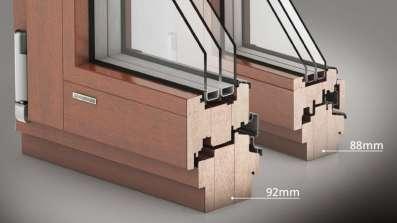 Okna drewniane Urzędowski Galux 92
