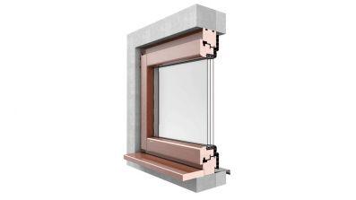 Okno drewniano-aluminiowe Urzędowski Galux Alu Softline