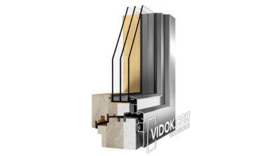 Vidok VDA-116 Passiv - pasywne okna drewniano-aluminiowe