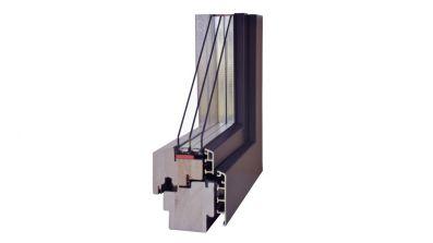 Wegiel Gemini Classic okno drewniano-aluminiowe