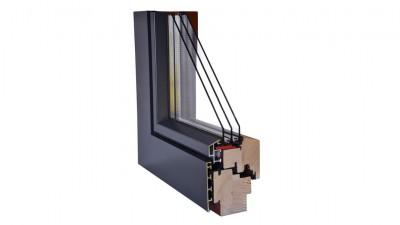 Wegiel Gemini Linear okno drewniano-aluminiowe