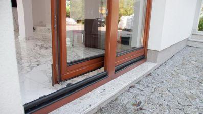 Wegiel Patio drewniane tarasowe drzwi przesuwne PSK