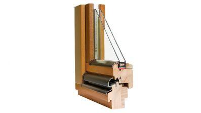 Wegiel Softline 68 okno drewniane