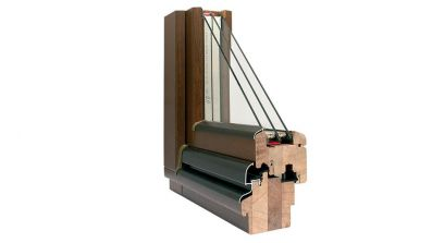 Wegiel Softline 78 okno drewniane