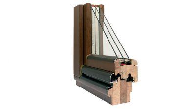 Wegiel Softline 88 okno drewniane