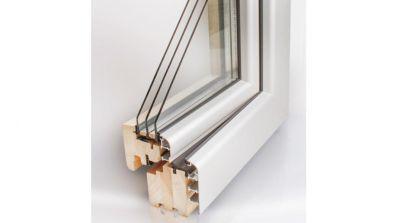Wegiel Softline okno drewniano-aluminiowe
