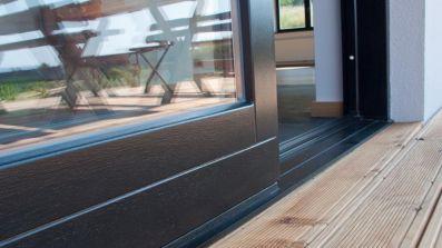 Wegiel System HS drewniane tarasowe drzwi przesuwne