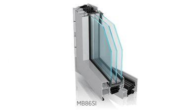 Okno aluminiowe Wiśniowski Futuro MB-86 w wersji SI