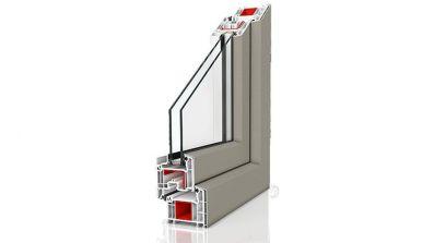 Okno PVC Wiśniowski Primo 70 z nakładką aluminiową