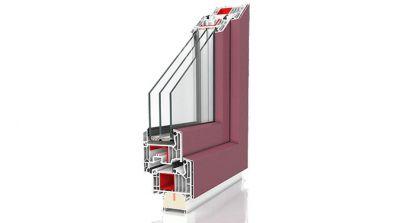 Okno PVC Wiśniowski Primo 82 z nakładką aluminiową