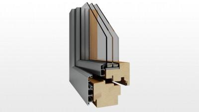 Okno drewniano-aluminiowe Witraż Duo Regular
