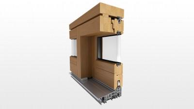 Drewniane drzwi przesuwne na taras HS Witraż Slide