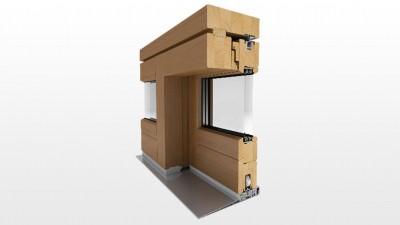 Drewniane drzwi przesuwne na taras HS Witraż Slide z super niskim progiem. Przestrzeń bez barier.