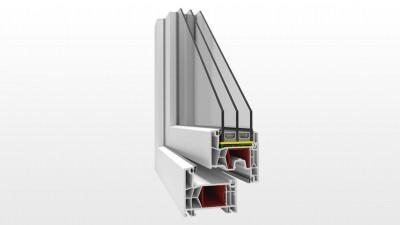 Okno PCV Witraż PK76 Innovo
