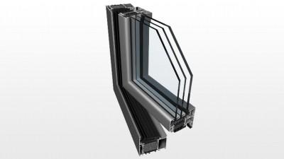 Energooszczędne okno aluminiowe Witraż Ponzio PE 78N HI