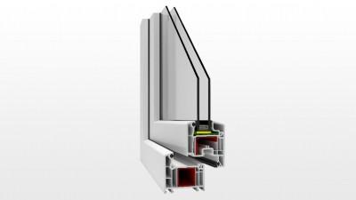 Okno PCV Witraż V70 Perfectline