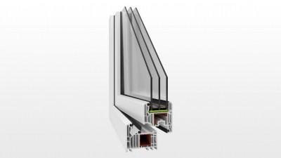 Aktywne okno pasywne PCV Witraż V82 Powertherm+