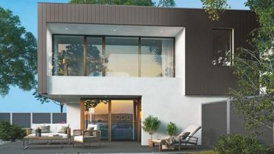 Nowoczesny dom wyposażony w okna aluminiowe Deceuninck