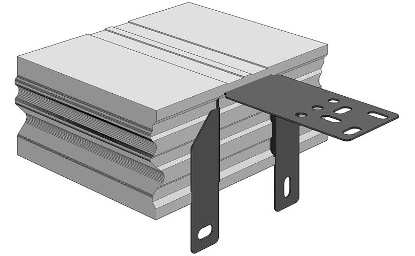 Ciepła Belka Montażowa, (CBM), belka nośna z mocowaniem wewnętrznym 250/200 mm