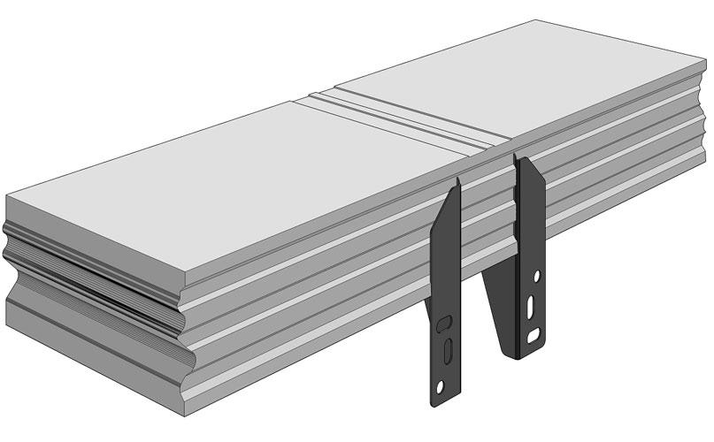 Ciepła Belka Montażowa, (CBM), belka nośna z mocowaniem zewnętrznym 700/200 mm