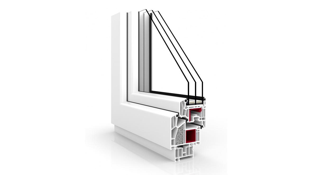 Okno Vetrex V90+ przekrój
