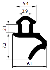 Uszczelka S - 1625 do okna PCV
