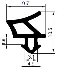 Uszczelka S - 1758 do okna PCV