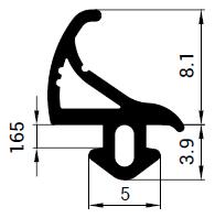Uszczelka S - 1123 do okna Thermoplast