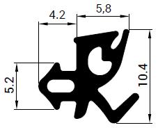 Uszczelka S - 1152 do okna Kömmerling