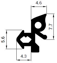 Uszczelka S - 1189 do okna Gealan
