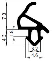 Uszczelka S - 1559 do okna Aluplast